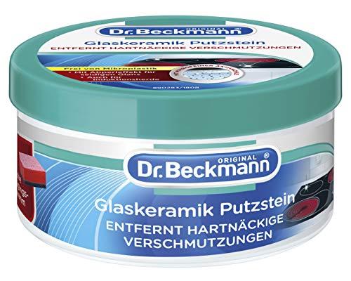Dr. Beckmann Glaskeramik Putzstein | effektiver Kochfeld-Reiniger | inkl. Spezialschwamm (250 g)