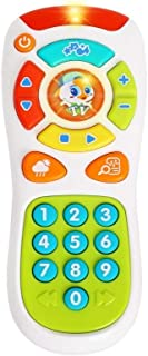Coolle Toy tv Remote Control   Click and Count Remote   Kids Pretend Remote   Early Development Toys for Infants Toddlers Babies Newborns 6+ Months with Lights Music Big Nnmber Buttons