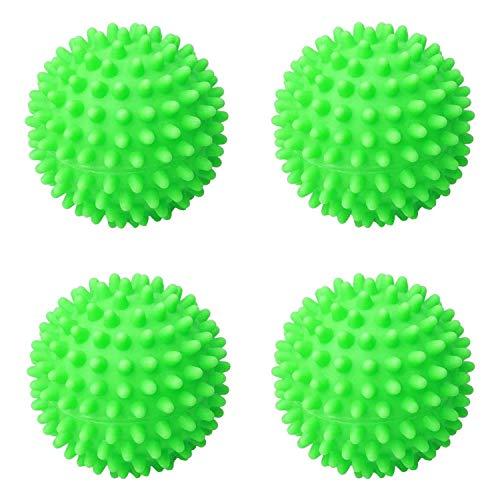 rosepartyh Bolas de Secadora Tumble Dryer Balls Secador para Lavadora Ropa Secado Pelotas Pelota Lavadora Reutilizables 4 Piezas