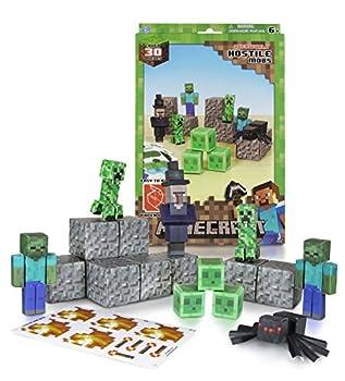 Minecraft Papercraft Hostile Mobs Set Over 30 Piece