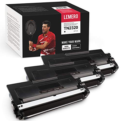 LEMERO 3 tóneres compatibles con Brother TN-2320 XXL DR2300 para Brother DCP-L2520DW DCP-L2540DW DCP-L2500D DCP-L2540DN HL-L2320D HL-L2340DW HL-L2360DW HL-L2380DW HL-L2300D HL-L2360DN HL-L236 5 DW.