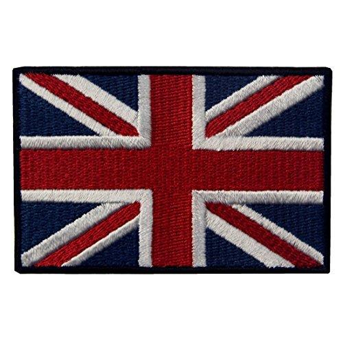 Gran Bandera Británica De Union Jack Bordó El Hierro BRITÁNICO De La Bandera De Inglaterra En Cosido En Remiendo