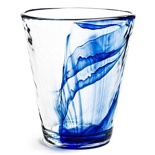 Bormioli Rocco-Bicchieri Long Drink, in vetro di Murano, colore: blu, confezione da 12