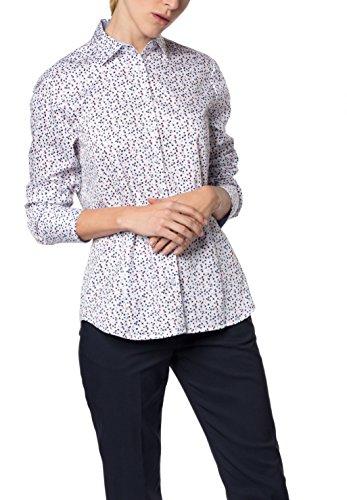 eterna Damen Comfort Fit Langarm Bedruckt mit Hemd-Kragen Bluse, Mehrfarbig (Bunt 18), 50