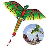 XOYZUU Enormes cometas coloridas, grandes dinosaurios de águila para niños y adultos, gran envergadura y diseño realista, fácil de montar y volar, excelente juguete al aire libre, es un gran regalo