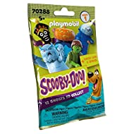 Fun for boys and girls: 1 of 12 PLAYMOBIL SCOOBY-DOO! Figures - Legendary fun for collecting and detailed play Collect & Swap: 1 of 12 characters in each bag, 1 figure including accessories, 1 sticker, 1 ghost card with information about each respect...