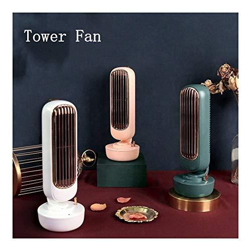 Robots master Tour Fan de Bureau Ventilateur Silencieux de Vent Fort Déversement d'eau Ventilateur Climatiseur Ventilateurs humidificateurs (Color : Retro Green)