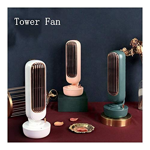 Robots master Tour Fan de Bureau Ventilateur Silencieux de Vent Fort Déversement d'eau Ventilateur Climatiseur Ventilateurs humidificateurs (Color : Retro Green)