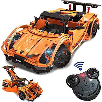 WisePlay Build Your Own RC Car Kit for Kids, 421pc Stem Building Sets for Boys 8-12, STEM Remote Control Car Building Kit, Birthday Toy Gift for 8, 9, 10, 11, and 12 Year Old Boys