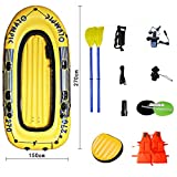 BOATb Inflatable Boat Set 4 People, Inflatable Kayaking, Inflatable Dinghy, Air Boat Fishing with Pump