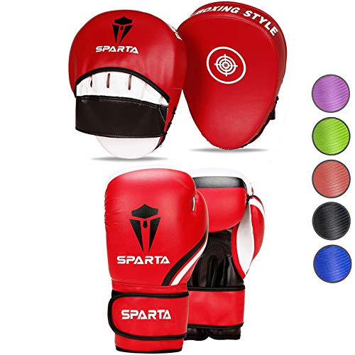 Boxing gloves and pads set Focus Punch Mitts MMA Training...
