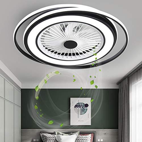 LED Fan Deckenventilator Lüfterlicht Mit Beleuchtung Fan Deckenleuchte Dimmbare Fan Deckenlampe Fernbedienung Ultra-Leise Kann Modernes Wohnzimmer Schlafzimmer Lampe