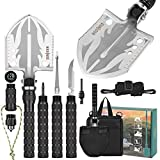 Sunkoon Camping Shovel Folding Survival Shovel Lenghten 37.8inch and Thicker Enlarged Shovelhead for Camping, Hiking,Fishing Multool Gifts for Men