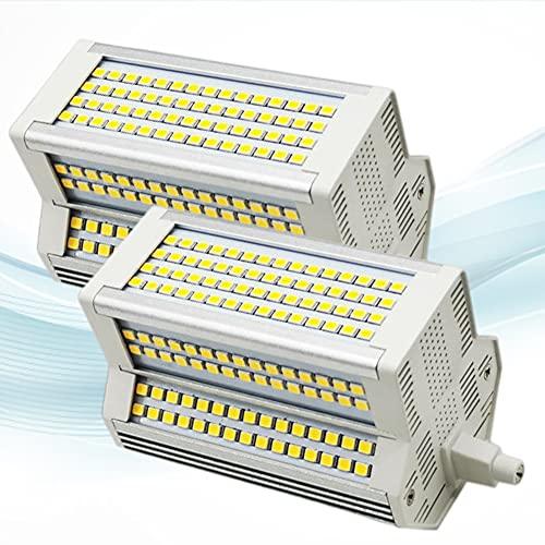 2-PC Bombilla LED Regulable 50W R7S 118mm 5400LM Blanco cálido 3000K Bombilla LED J118 de Doble Extremo 500W Reflector halógeno...