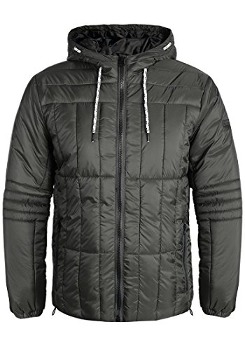 Blend Santiago Herren Steppjacke Übergangsjacke Jacke mit Kapuze, Größe:S, Farbe:Raven Grey (75112)