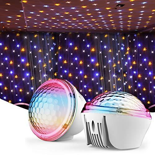 RUNACC Sternenhimmel Projektor, Starry Projector Light Sternenhimmel Lampe Nachtlicht 4 Beleuchtungsmodi 360°Drehen für Kinder Erwachsene Zimmer Baby Dekoration Geburtstag Party Weihnachten Hochzeit