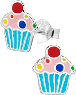 Hypoallergenic Sterling Silver Sweet Treats Stud Earrings for Kids (Nickel Free)