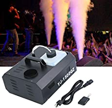Ridgeyard Vertical Smoker Stage 1500W Fog Machine Up Spray DMX Fogger with Wireless Remote Control for DJ Club Disco Party Theatre Nightclub Stage Effecting (0.53 gal / 2000ml Tank Capacity)
