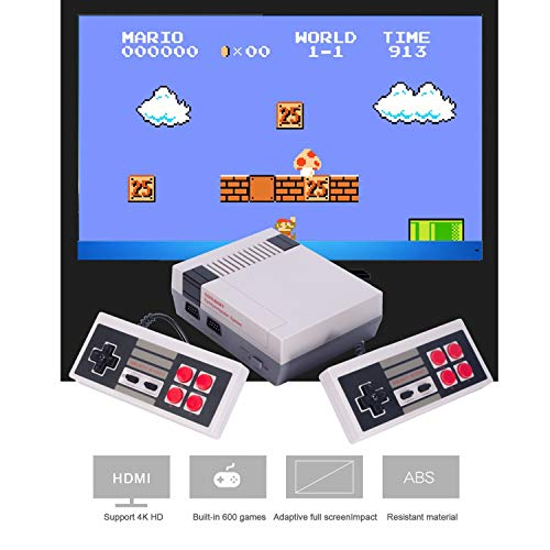 Consola Retro Game 2 Mandos HD Mario Bros 600 Juegos HDMI TV...