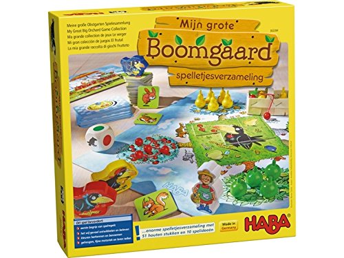 HABA Spel - Mijn grote Boomgaard - spelletjesverzameling (Nederlands)