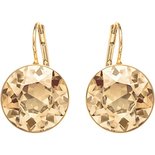 Swarovski Bella Drop Pierced Earrings, with Gold Crystals and Gold-Tone Plated Setting, a Part of the Bella Collection