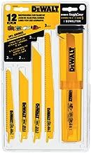DEWALT Reciprocating Saw Blades, Bi-Metal Set with Case, 12-Piece (DW4892)