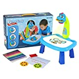 Projector Painting Set for Kids, Child Trace and Draw Projector Learn to Draw Playset for Toddlers, Graffiti Children Projection Drawing Board, Kids Projector Table Toys Drawing Board for 3+,Blue