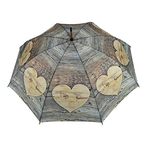 Mars & More Regenschirm Holz Herz 105cm