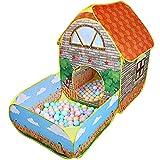 Tienda de campaña para niños con piscina de bolas, tienda de campaña emergente de casa de juegos imaginativa,tiendas de campaña con forma de casa para interiores y exteriores para niños,niñas y niños