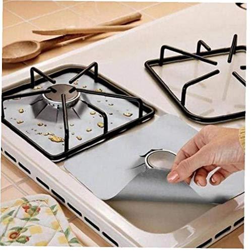 Bontand 4pcs Wiederverwendbare Gasherd Schutz Teflonfolie Hebt Kochplatte Brennerdeckel Für Reinigung Küchenhelfer