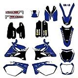 Adhesivo de Motocross Modificado Gráficos Fondos de la Etiqueta engomada Kit for Yamaha YZ125 YZ250 YZ 125 250 2002-2012 2011 2010 2009 2008 2007 2006 2005 2004 2003