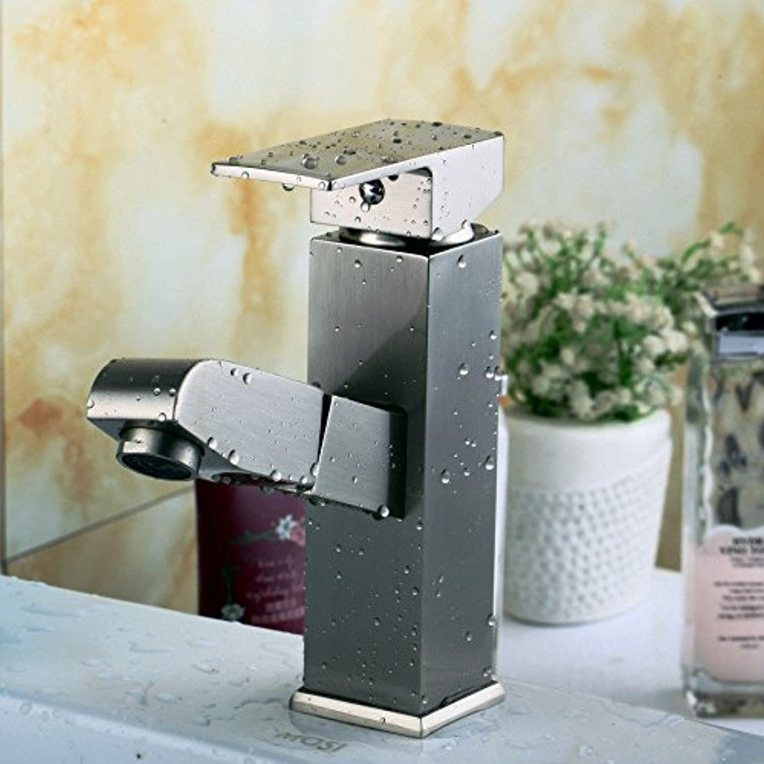 Bijjaladeva Antique Kitchen Sink Mixer Tap All Copper Brushed Pull-Down Four of The Kitchen Sink Single-Cold Water Faucet