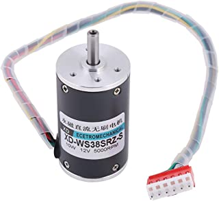 12/24V 10W Brushless High Torque Speed Motor CW/CCW Magnet DC Motor for DIY Generator(5000 rpm-12V)