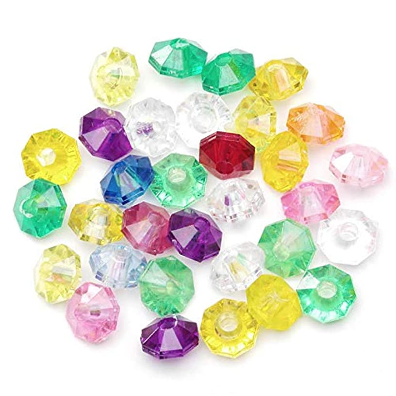 DARICE 06116-7-T27 Bead Faceted RONDELLS Translucent Multi Color 6MM 1000PK, Multicolor