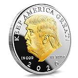 Pièces Commémoratives,Badge Commémoratif Du Président Américain Donald J.Trump 2020, Pièces Commémoratives Plaquées En Relief, Collection, Cadeaux De Nouvel An,noyau D'alliage,argent + Plaqué or