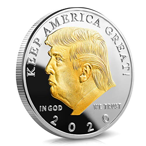Tangpingsi Challenge Coin, 2020 Donald J. Trump President of The United States Commemorative Badge Embossed Plating Souvenir Coin Collection New Year Gift Commemorative Coin