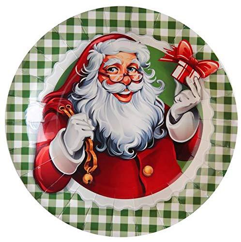 Santex Noel - 10 Assiettes en Carton Il était Une Fois Noël