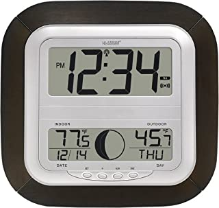 La Crosse Technology WS-8418U-IT Atomic Digital Wall Clock with Moon Phase (B0016MYATS) | Amazon price tracker / tracking, Amazon price history charts, Amazon price watches, Amazon price drop alerts