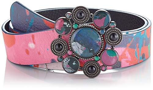 Desigual Belt_arcadian Reversible cinturón, Black, 85 para Mujer