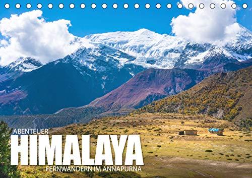 Abenteuer Himalaya - Fernwandern im Annapurna (Tischkalender 2021 DIN A5 quer)