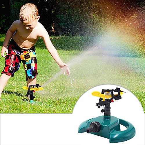 OhhGo - Irrigatore automatico per irrigazione da giardino, con rotazione a 360°, sistema di irrigazione per giardino, prato e agricoltura