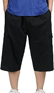Macondoo Mens Casual Workout Rugged Baggy Big and Tall Cargo Straight Fit Pants