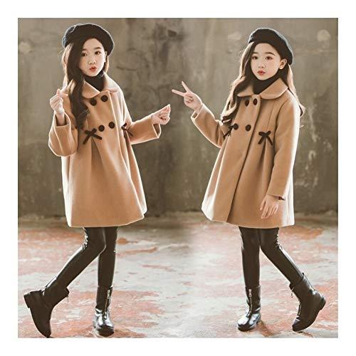 Trendy household Veste fille outwear kind-meisjes-losse wollen jas twee rijen sterke lange jas prinses warme winterjurk mantel outwear kind-casual overcoat