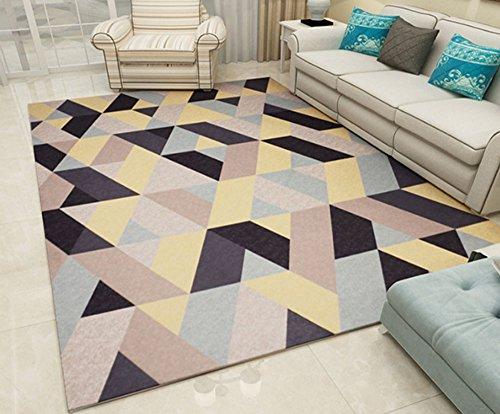 Teppich weiche Teppiche Teppiche Wohnzimmer Teppich Nordic Teppich Wohnzimmer Schlafzimmer Couchtisch Pad europäischen minimalistischen modernen geometrischen Muster Schlafsofa rechteckigen Teppich ka