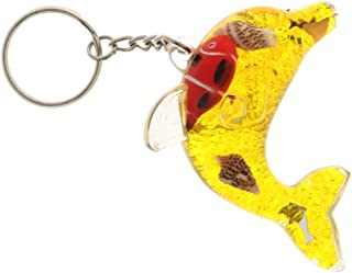 HOMYL Liquid Motion Keychain Dolphin Floating Key Ring Key Pendant Handbag Charms Purse Key Ring
