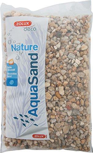 Zolux Gravier Naturel pour Aquarium Quartz Gros de 3 à 8 mm de Granulométrie 1 kg