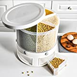 LIZONGFQ Caja de almacenamiento de alimentos de plástico Contenedor a granel Dispensador de cereales Caja transparente Tarro de tuerca Contenedor de arroz