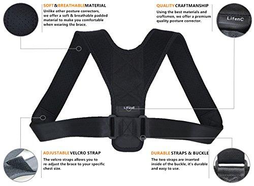 lifenc ajustables para corrección de postura recto hombro espalda ...