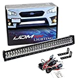 iJDMTOY Lower Grille 30-Inch LED Light Bar Kit Compatible with 2015-2019 Subaru WRX/STI, Includes (1) 180W High Power LED Lightbar, Lower Bumper Opening Mounting Brackets & On/Off Switch Wiring Kit