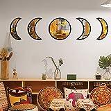 5 Pieces Moon Phase Mirror Set, Crescent Moon Mirror Wall Decor...